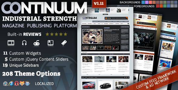 Continuum - A Magazine Theme